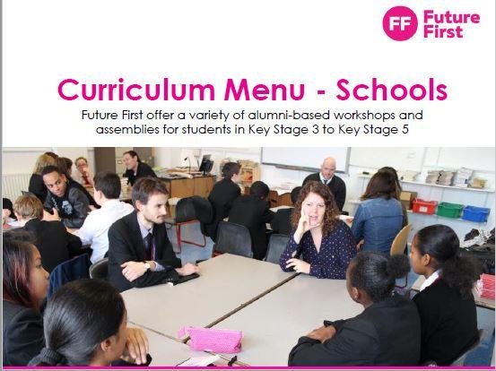 Future First Curriculum Menu
