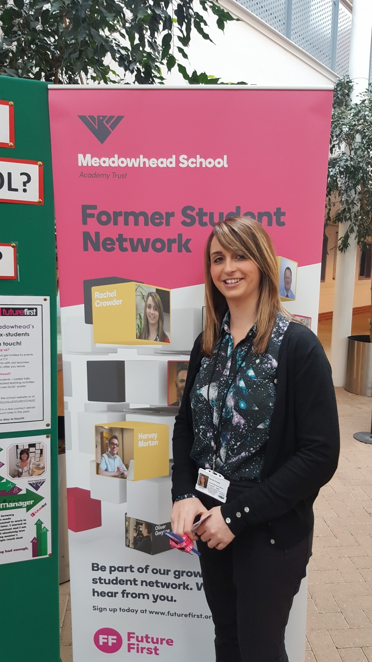 Alumni as ambassadors at Meadowhead School
