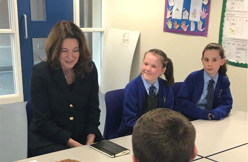 MP goes back to school to inspire pupils to aim high.