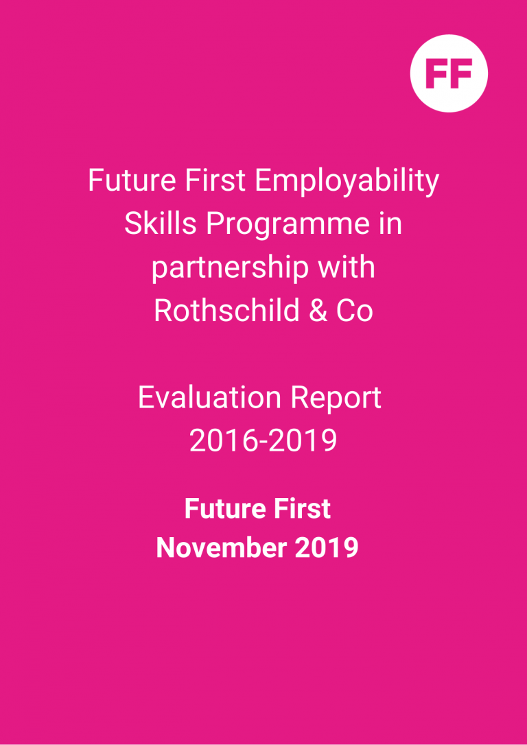 Future First Employability Skills Programme in partnership with Rothschild & Co