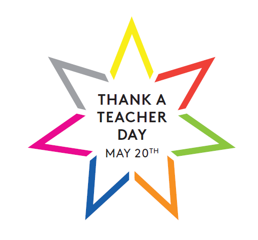 Thank a teacher logo
